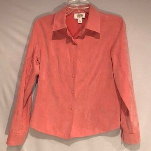 Talbots Coral Button up Career Top. Size S.